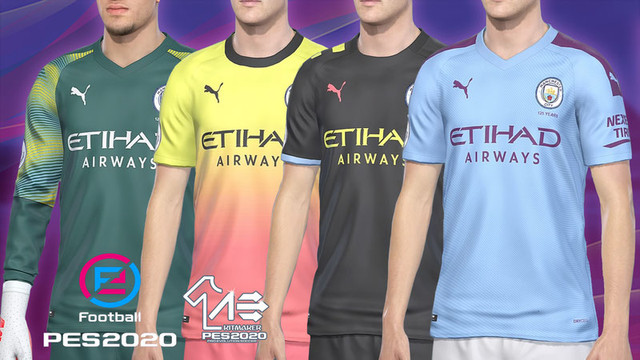 free shipping d80f3 b6aa1 PES 2019 Manchester City Kits 2019-2020 by AerialEdson