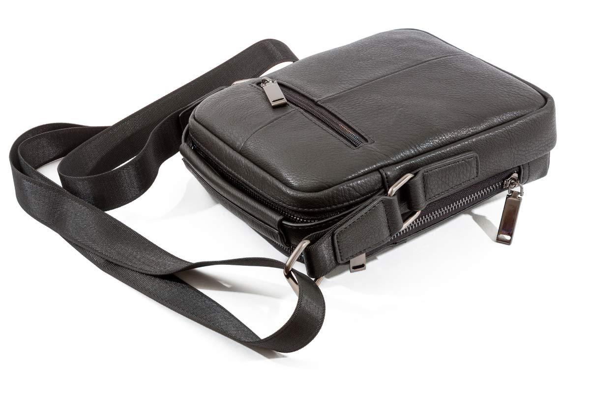 Деловые вертикальные кожаные мужские сумки
