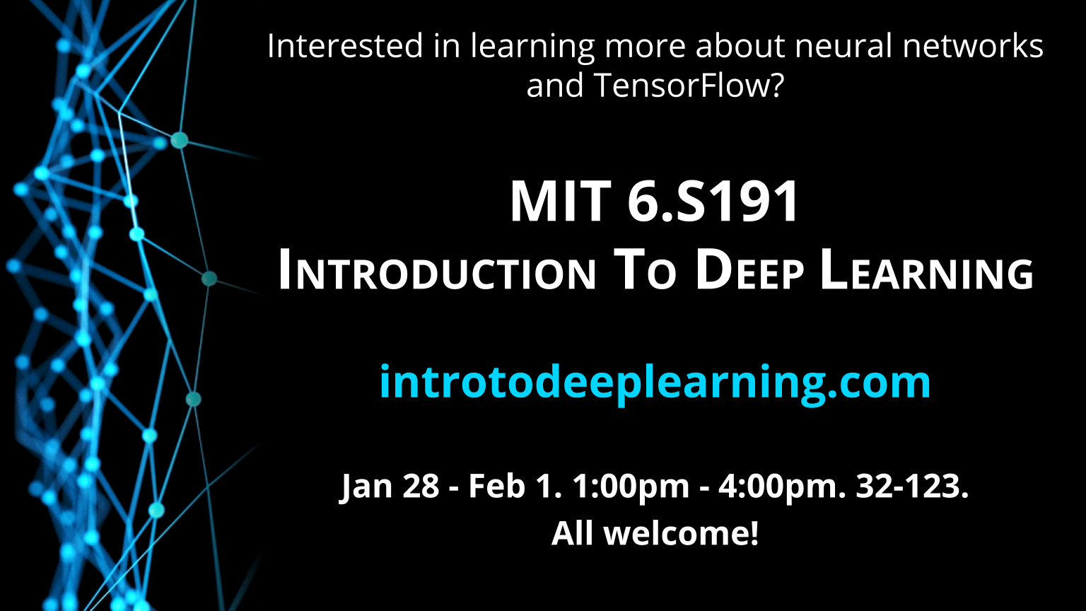 MIT 6 S191: Introduction to Deep Learning