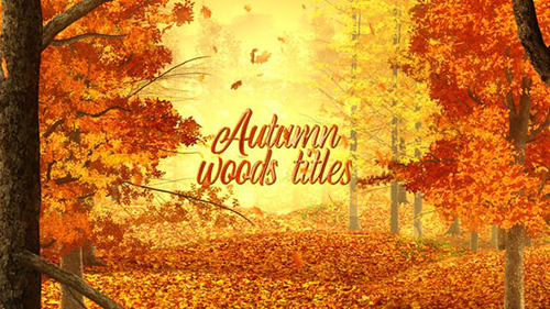 Autumn Woods Titles 33925235 - Project for After Effects (Videohive)