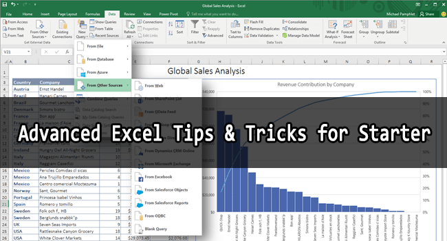 Most Powerful: Tips and Tricks in Microsoft Excel for Starters