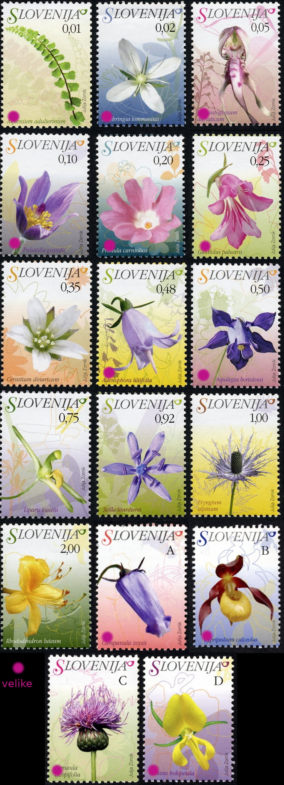Slovenia stamps FLORA-velike