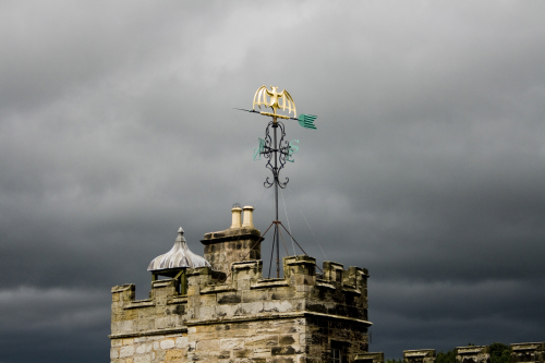 An image of a storm coming over Chillingham Castle © Icy Sedgwick