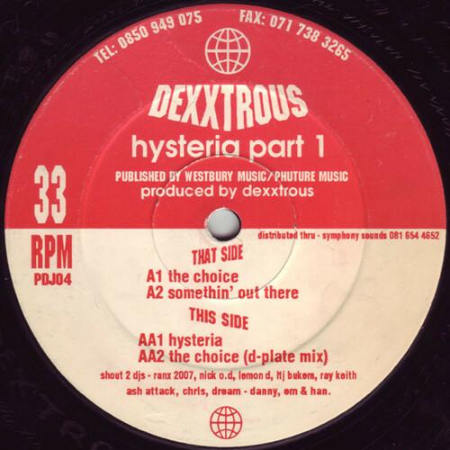 Dexxtrous - Hysteria Part 1 1993
