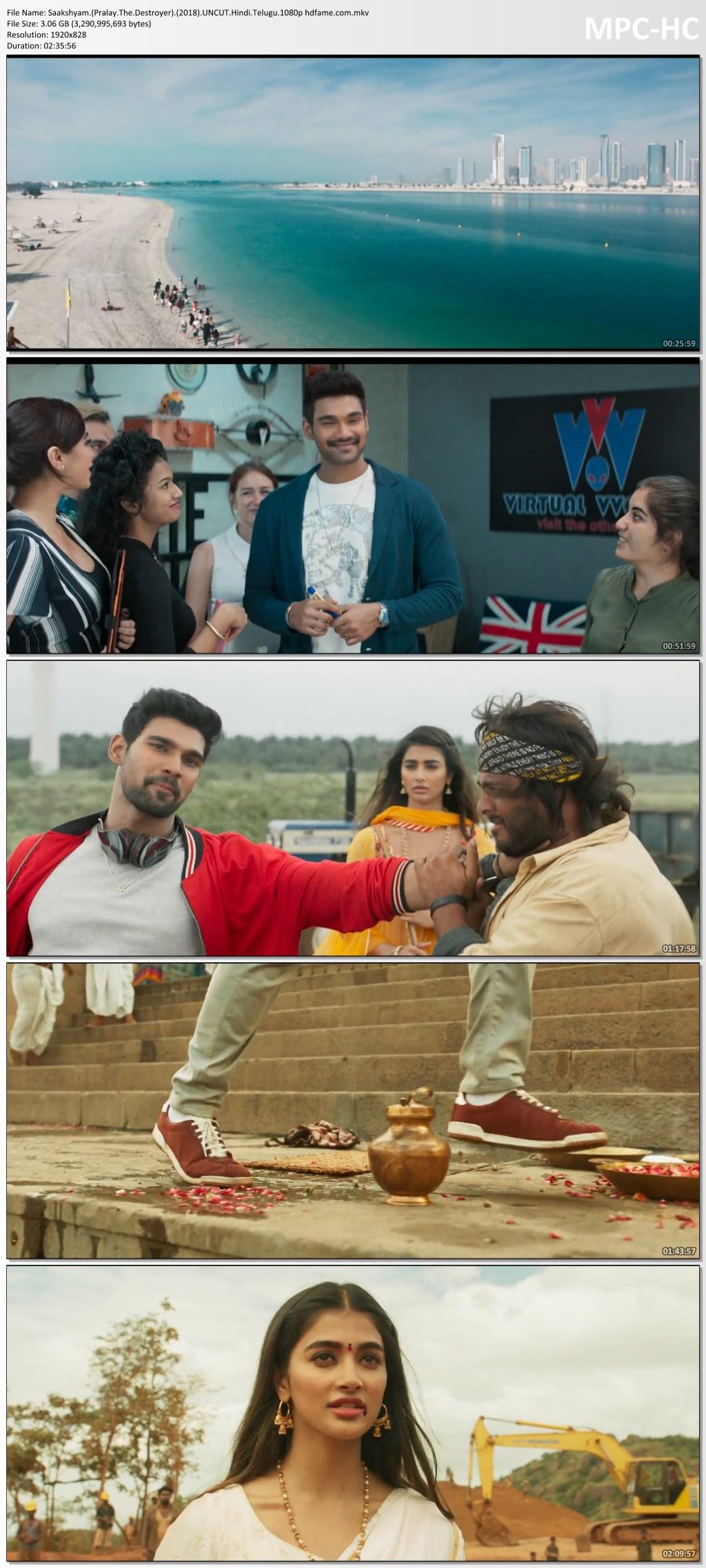 Saakshyam 2018 Dual Audio (Hindi-Telugu) Full Movie