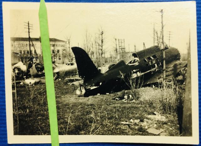 Foto-Wehrmacht-Russland-Front-combat-crash-plane-Schrottpl-Flugzeug