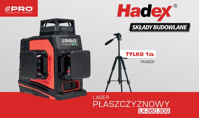 Laser płaszczyznowy PRO Hadex