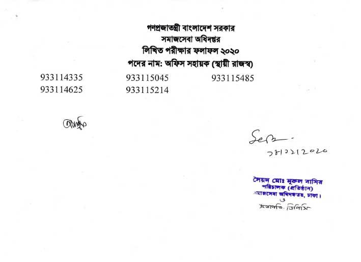dnc-office-shoyayok-written-exam-result5