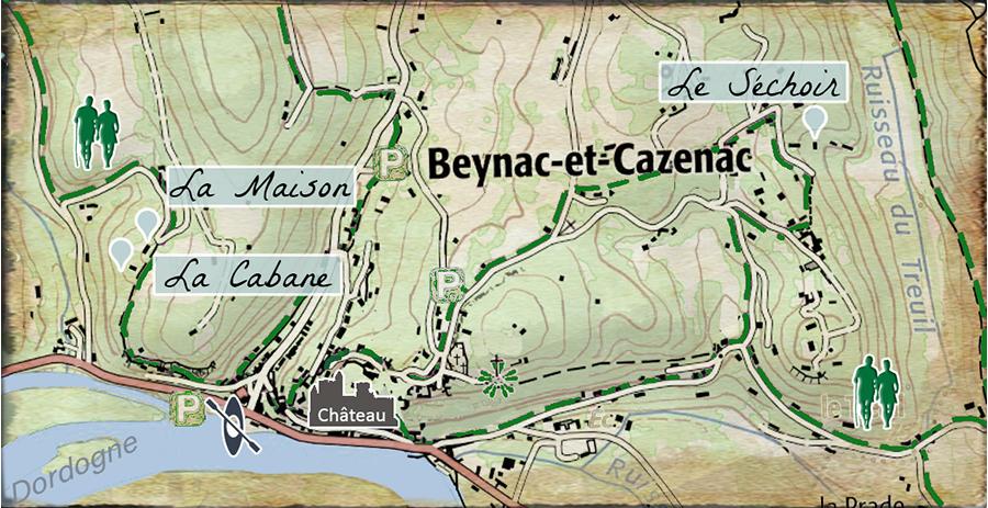 Carte Gites Dordogne