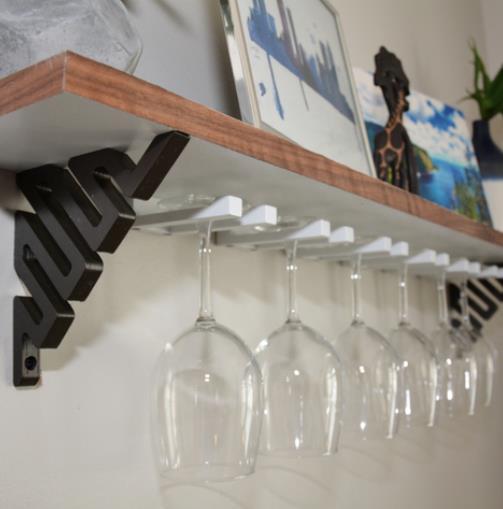 DIY Wine Glass Shelf - Cool Things to 3D Print
