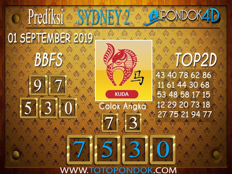 Prediksi Togel SYDNEY 2 PONDOK4D 01 SEPTEMBER 2019