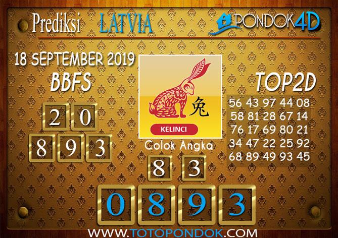 Prediksi Togel LATVIA POOLS PONDOK4D 18 SEPTEMBER 2019