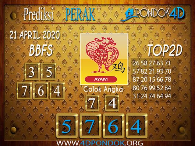 Prediksi Togel PERAK PONDOK4D 21 APRIL 2020