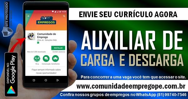 AUXILIAR DE CARGA E DESCARGA PARA EMPRESA DE TERCEIRIZAÇÃO EM PONTE DOS CARVALHOS