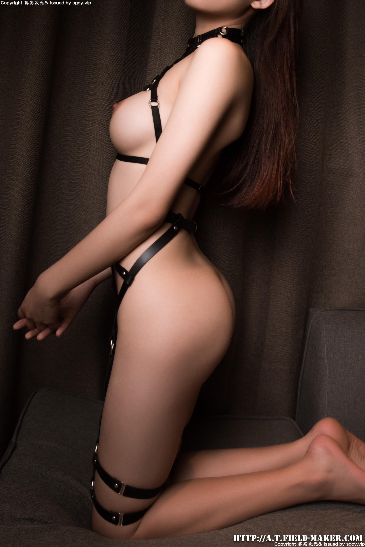 Tsubaki Album vol.007 革縛り絶賛ボディ Nude belt set 024