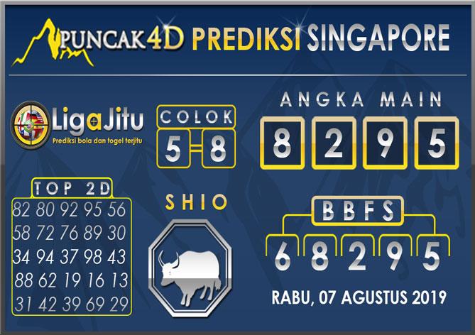 PREDIKSI TOGEL SINGAPORE PUNCAK4D 07 AGUSTUS 2019