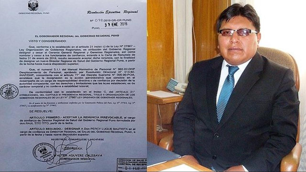 Director de Diresa Puno acusado de apropiarse de materiales de salud