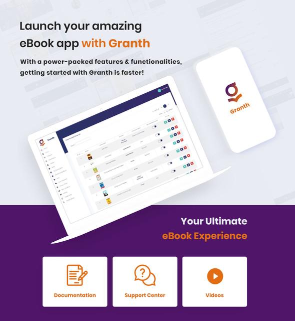 2 ios ebook app swift 4 + admin panel Granth 2 preview