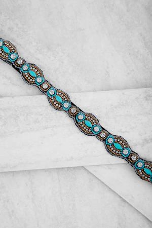 Tobi Fallen Angel Blue Embellished Headband -hair-accessory