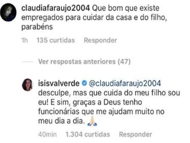 Não mexa com uma mãe: internautas colocam maternidade de Isis Valverde em dúvida e a atriz rebate fortemente!