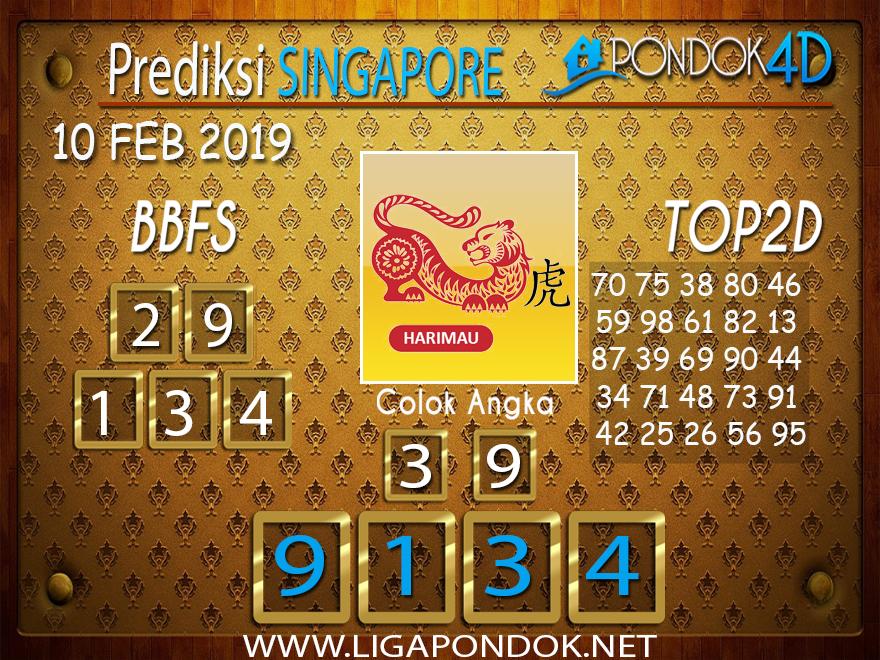 Prediksi Togel SINGAPORE PONDOK4D 10 FEBRUARI 2019