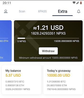 Oportunidade [Provado] Xwallet  - Android/iOS - Ganha um bonus em criptomoedas - Android - (Actualizado em julho de 2019) Lastxwallett