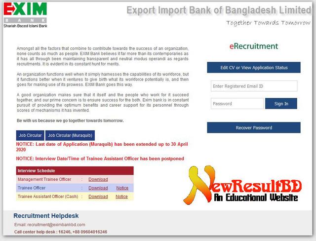 EXIM-Bank-application