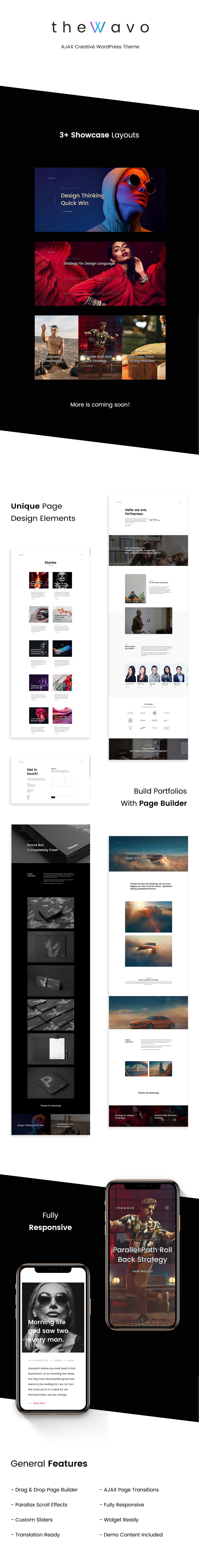 The Wavo - Portfolio Showcase WordPress Theme - 1