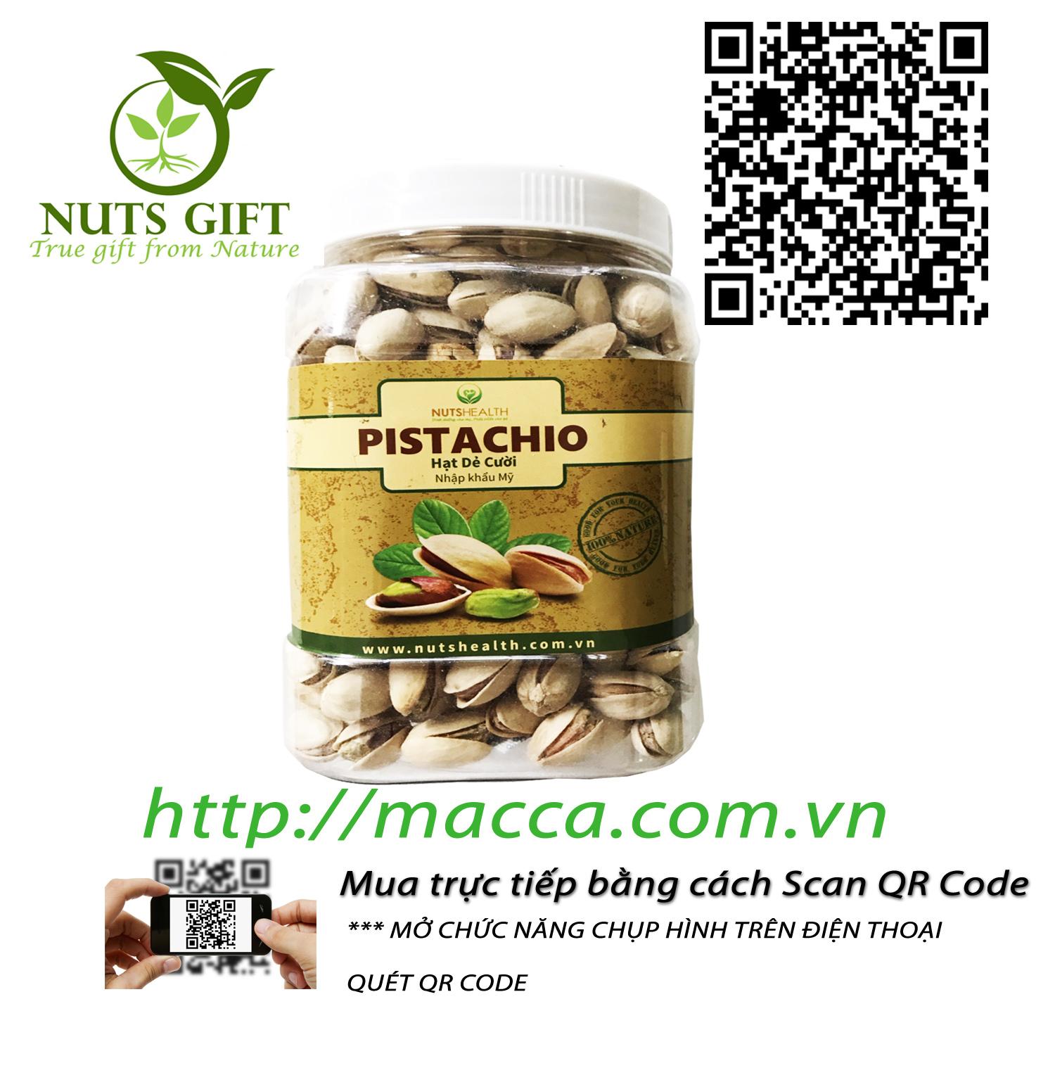 Hạt Dẻ Pistachios – Nutshealth – 500Gr