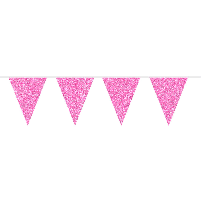 ბანერი ვარდისფერი ბრჭყვიალა 6მ