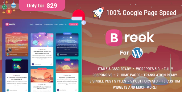 ThemeForest - Breek v1.5.0 - Minimal Masonry Theme for WordPress - 24031994