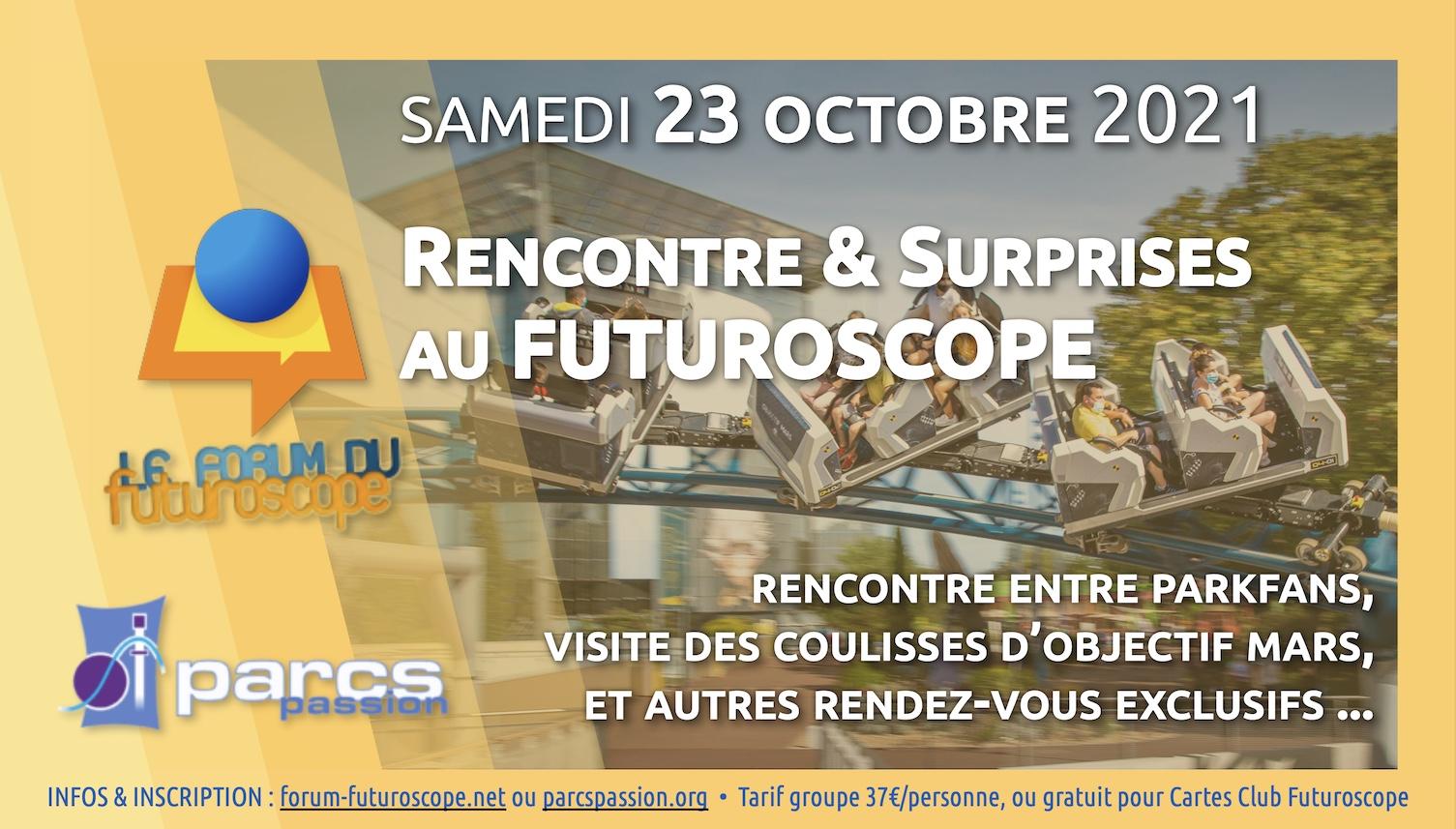 Rencontre Forum du Futuroscope / Parcs Passion · Samedi 23 octobre 2021 Visuel-Journe-e-23-10-2021