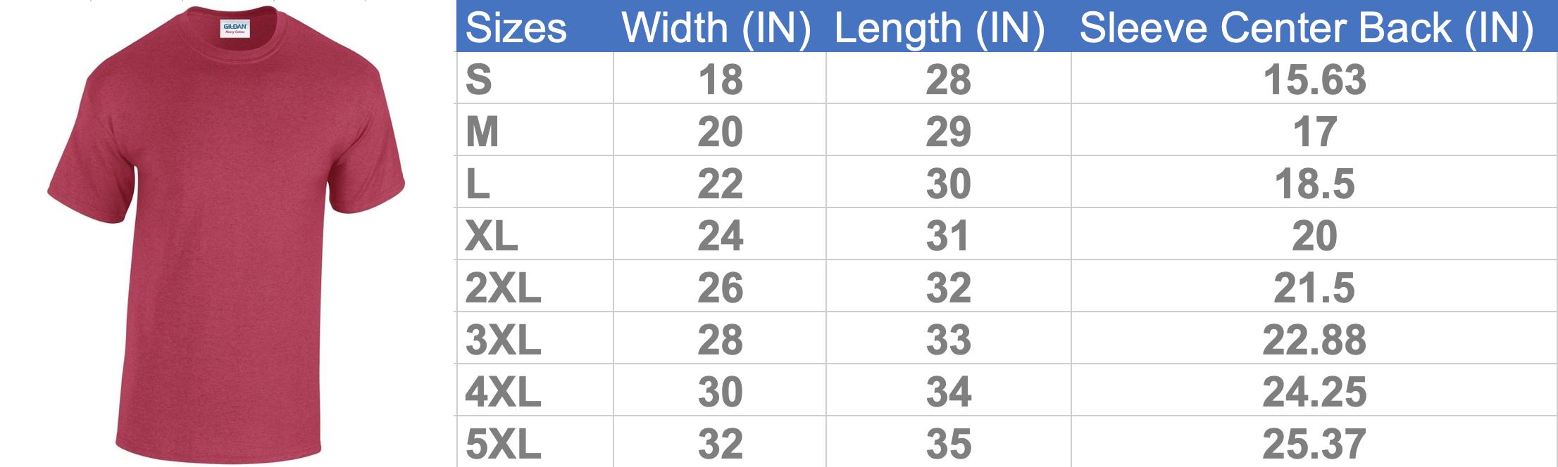 MotherProud Size Chart