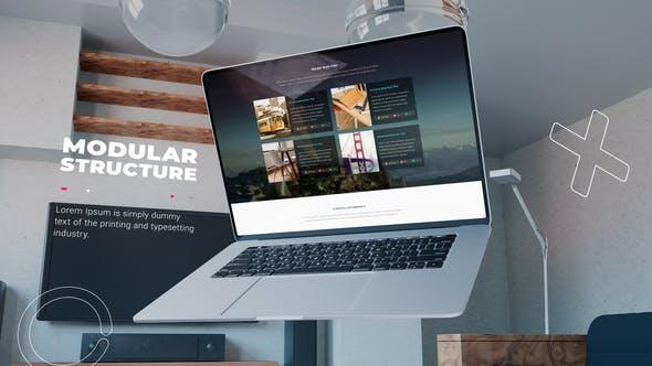 Videohive - Premium laptop website promo - 33772577