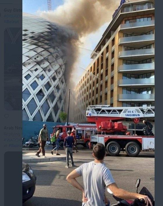 BEJRUT PONOVO GORI! Veliki požar u centru grada!