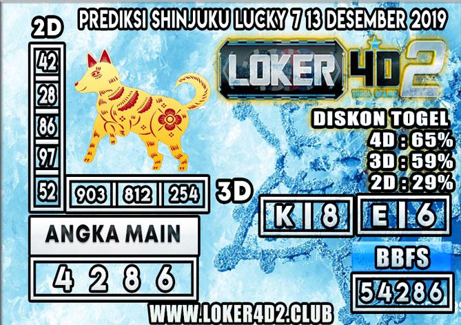 PREDIKSI TOGEL SHINJUKU LUCKY 7 POOLS LOKER4D2 13 DESEMBER 2019