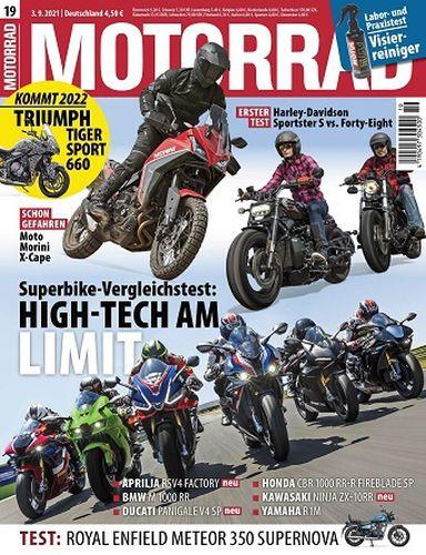 Cover: Motorrad Magazin No 19 vom 03  September 2021