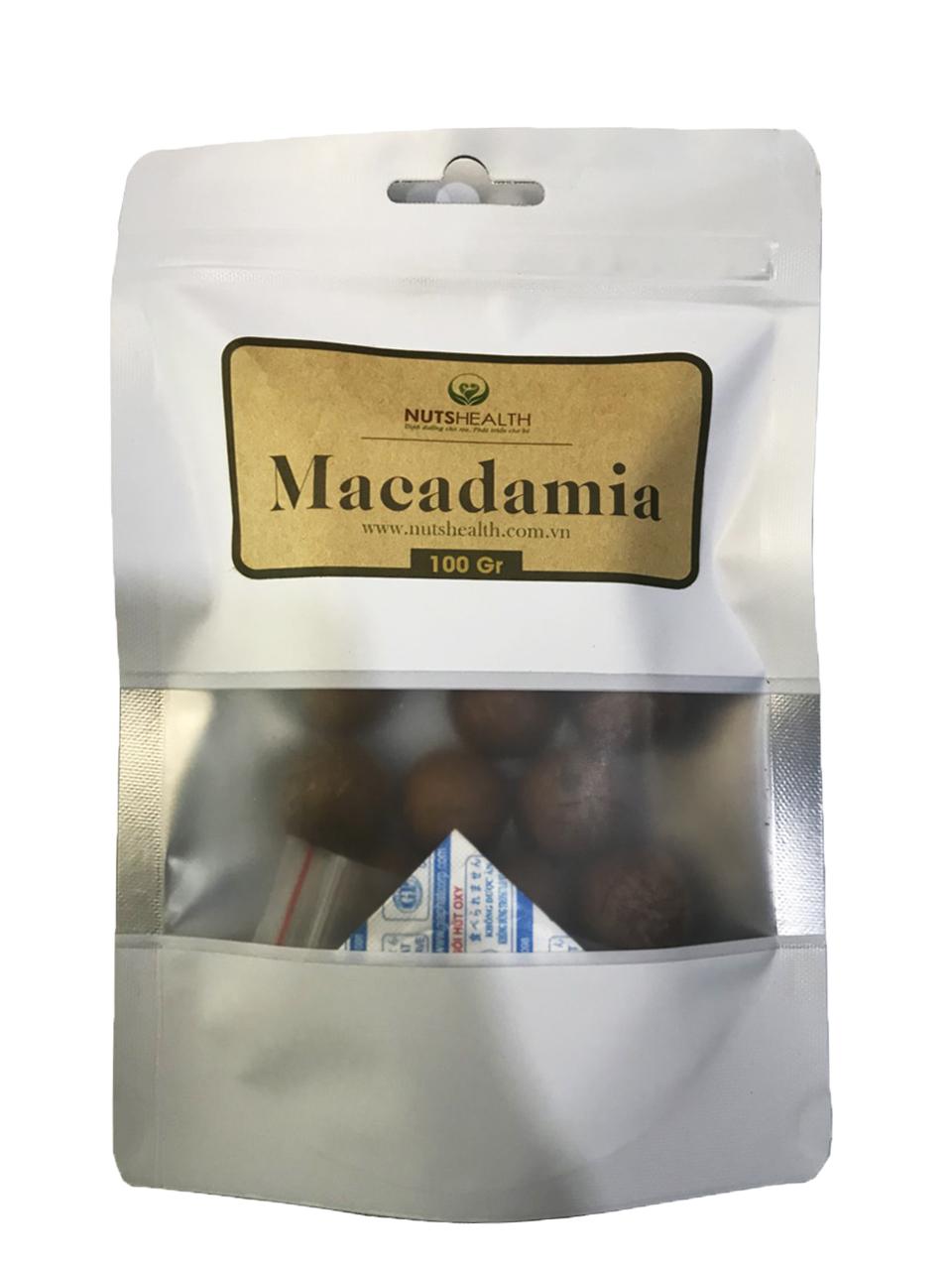 Hạt Mắc Ca ( Macadamia ) -bịch- 100g – Nutshealth