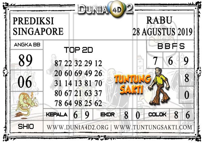 """Prediksi Togel """"SINGAPORE"""" DUNIA4D2 28 AGUSTUS 2019"""