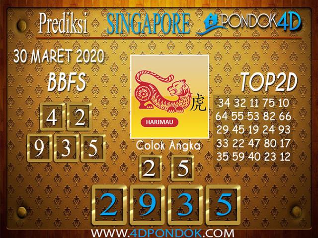 Prediksi Togel SINGAPORE PONDOK4D 30 MARET 2020