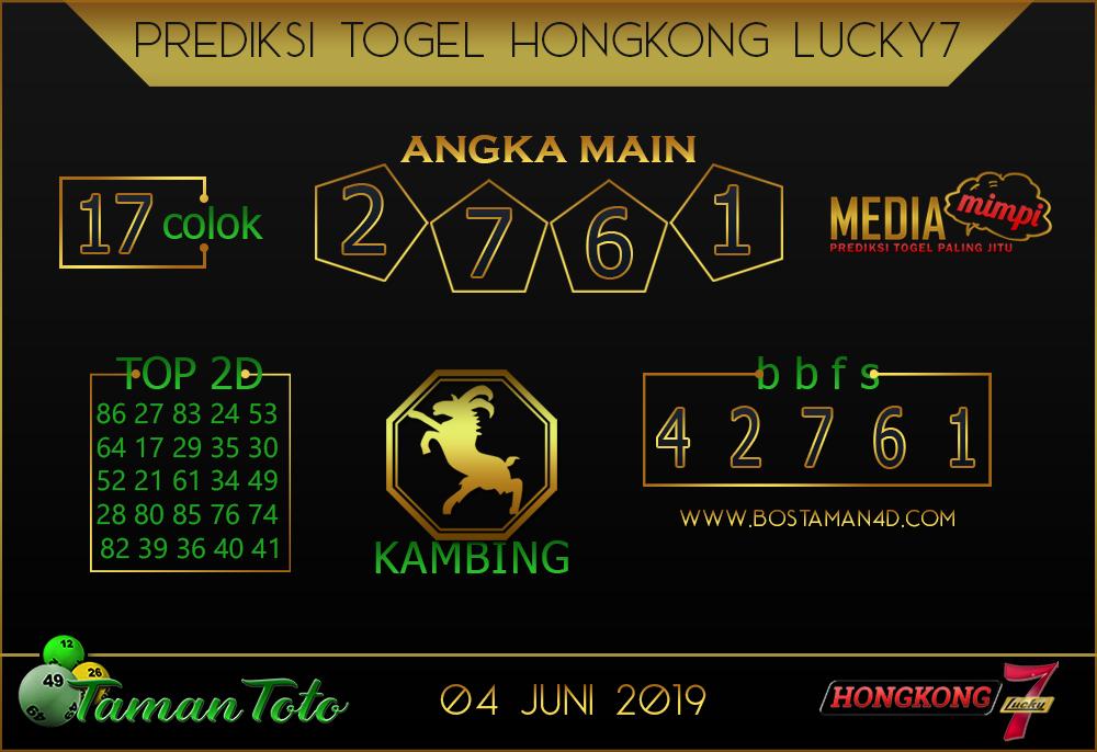 Prediksi Togel HONGKONG LUCKY 7 TAMAN TOTO 04 JUNI 2019