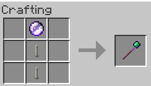 Crystal Wand Crafting Recipe