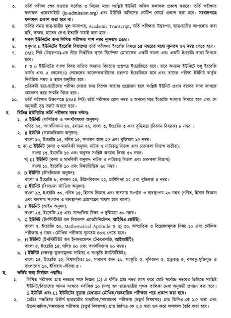 Jahangirnagar University Admission 2020-21 4.
