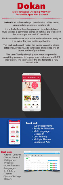 Dokan | Multi-Language WebView Ready Shopping Template with Backend - 1