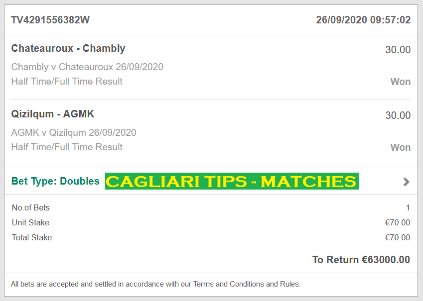 CAGLIARI FIXED MATCHES