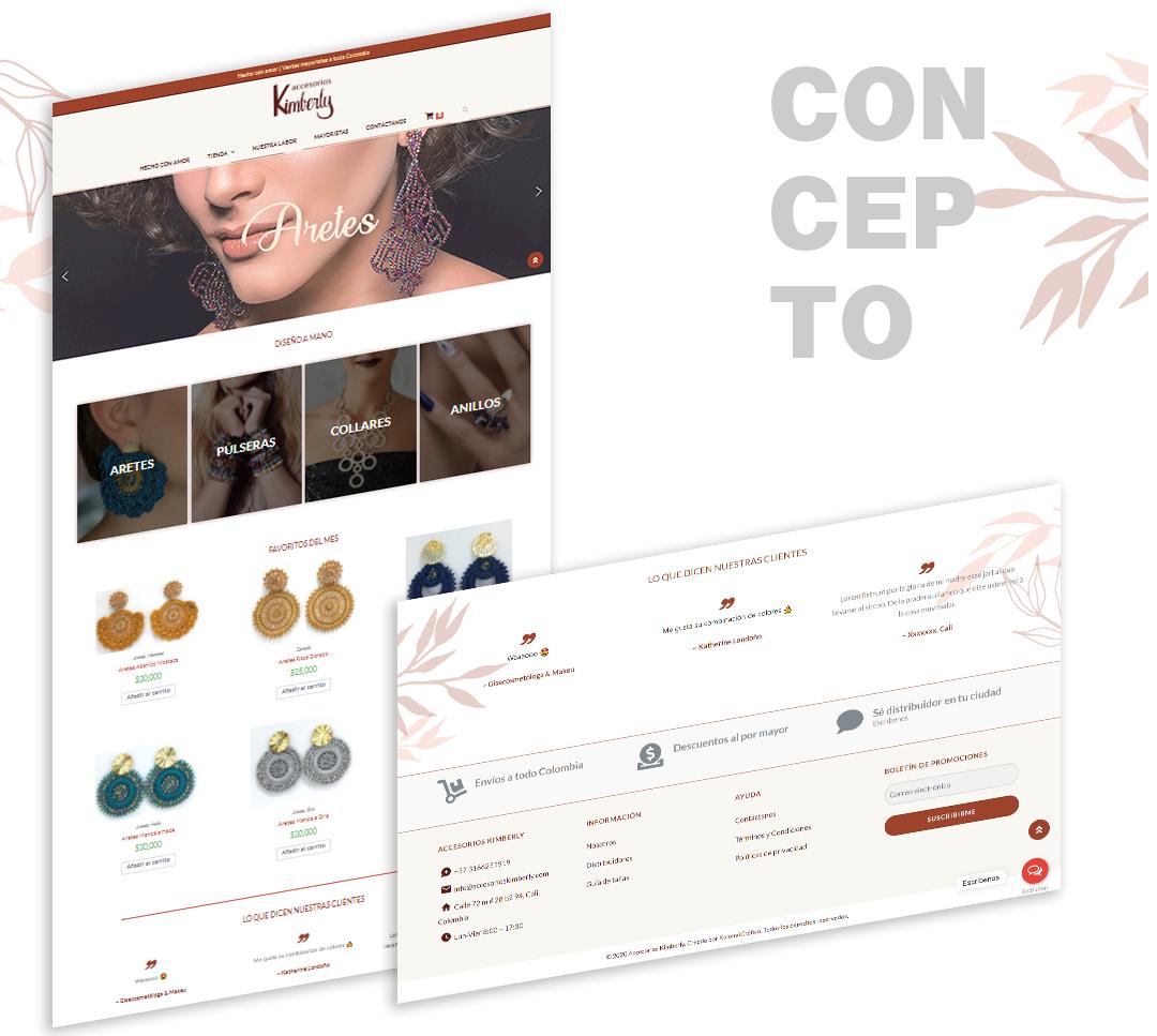 creación de concepto gráfico para web
