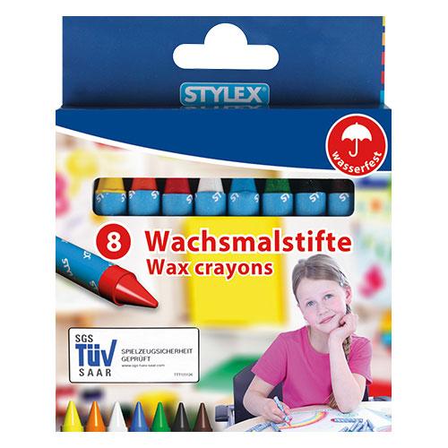 Stylex ფანქარი ფერადი ცვილის 8 ც 250284044186250282