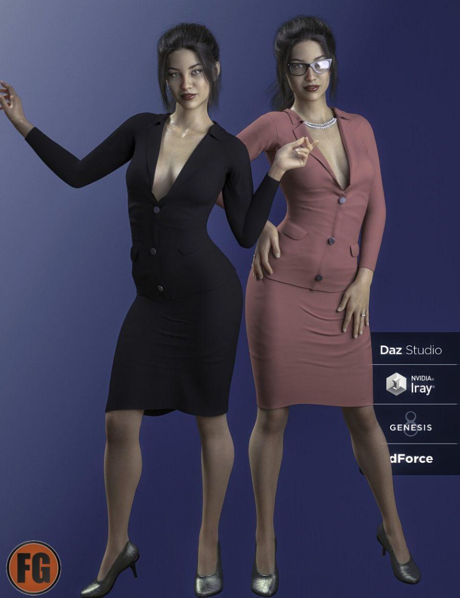 FG dForce Professional Suit for Genesis 8 Female(s)