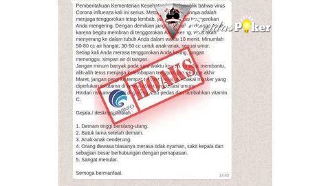 Jangan Tertipu! Daftar 19 Hoaks Virus Corona Yang Perlu Diketahui