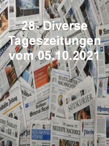 Cover: 28- Diverse Tageszeitungen vom 05  Oktober 2021